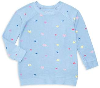 Chaser Girl's Multicolor Hearts & Stars Sweater
