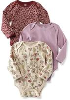 Old Navy Long-Sleeve Bodysuit 3-Pack for Baby