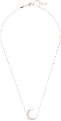 Jacquie Aiche Graduated Diamond Crescent Moon Necklace