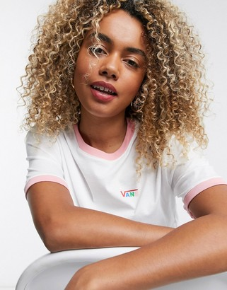 Vans Boxy cropped t-shirt in white