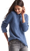 Gap Mix-knit mockneck sweater