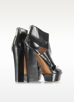 Rachel Zoe Elliot High Heel Black Leather Platform Bootie