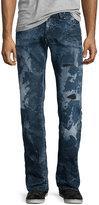 PRPS Barracuda Distressed & Bleached Denim Jeans, Blue