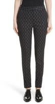 Yigal Azrouel Women's Metallic Stretch Jacquard Pants