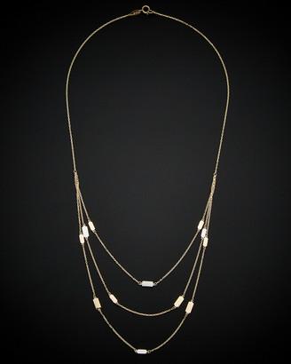 Italian Gold 14K Tri-Tone 3-Layer Necklace