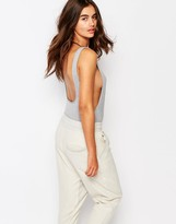 Missguided Drop Armhold Scoop Back Body