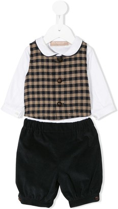 La Stupenderia checkered waist coat set
