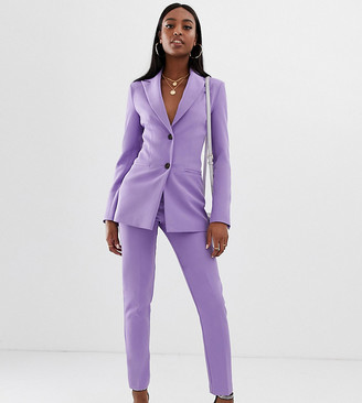 Asos Tall DESIGN tall pop slim suit pants-Purple