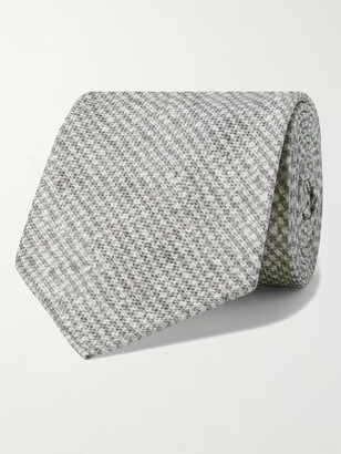 Kiton 8.5cm Puppytooth Silk Tie