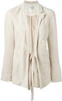 Forte Forte tie-waist blazer - women - Linen/Flax - 0