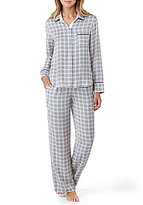 DKNY Checked-Print Satin Pajamas