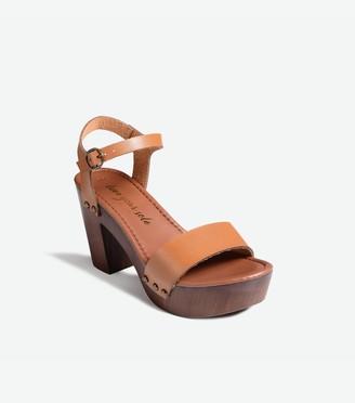 New Look Wood Block Heel Platform Sandals