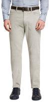 Ermenegildo Zegna Five-Pocket Stretch-Cotton Pants, Taupe