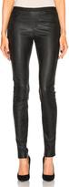 Helmut Lang Leather Legging in Black.