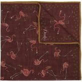 Drakes Flamingo Wool Pocket Square