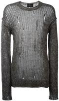 Lost & Found Ria Dunn - destroyed effect jumper - men - Cotton/Linen/Flax - S