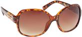 Steve Madden Brown & Amber Tortoise Oversize Sunglasses