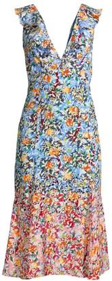 Saloni Holly Floral Silk Dress