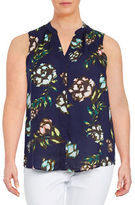 Lord & Taylor Plus Floral Tank