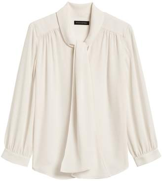 Banana Republic Tie-Neck Blouse
