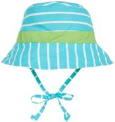I Play Reversible Bucket Sun Protection Hat (Baby/Toddler) - Aqua Stripe - 9-12 Months