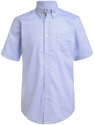 Nautica Short Sleeve Oxford Uniform Shirt (Big Boys)