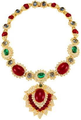 Kenneth Jay Lane 22K Goldplated & Multi-Stone Pendant Necklace