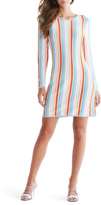 Ali & Jay The Oasis Stripe Long Sleeve Minidress