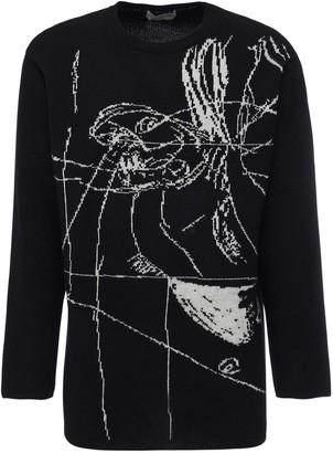 Yohji Yamamoto Asakura Jacquard Wool Knit Sweater