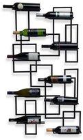 Bed Bath & Beyond Mid Century Wall Mount 10-Bottle Wine Rack