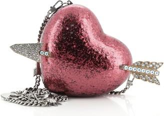 Gucci Broadway Heart Clutch Glitter Plexiglass