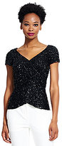 Adrianna Papell Faux Wrap Peplum Top