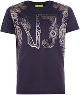 Versace Jeans Regular Fit Foil Border Print T-shirt