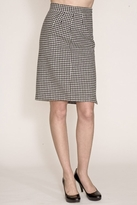 Corey Lynn Calter Doris Houndstooth Pencil Skirt in Black/Bone
