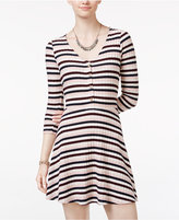 American Rag Striped Fit & Flare Dress, Only at Macy's