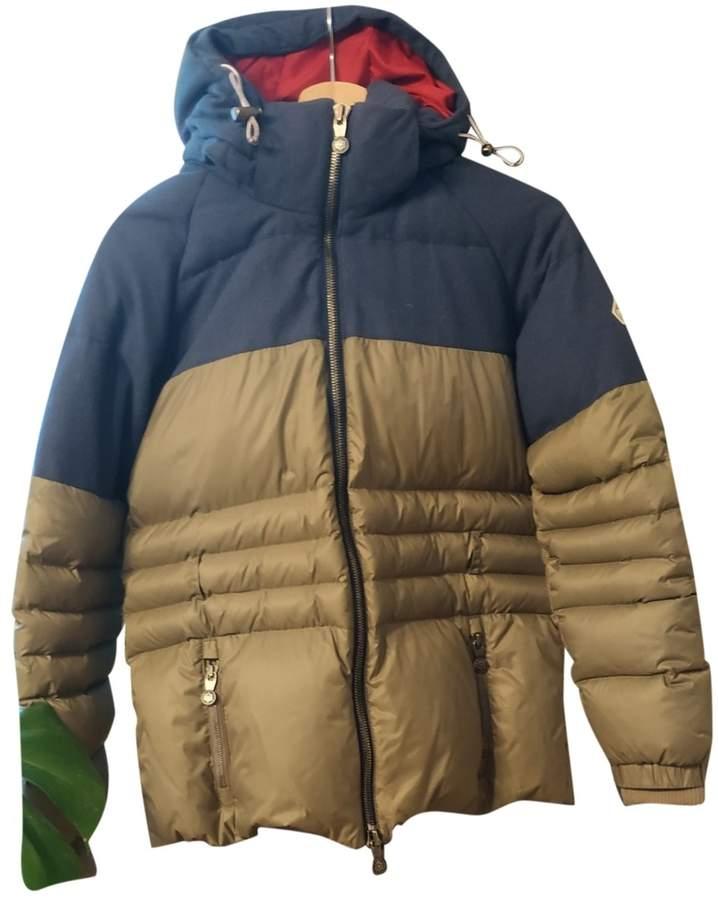Pyrenex Khaki Wool Coat for Women