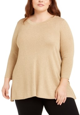 Anne Klein Plus Size Metallic Sweater