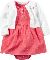 Carter's 2-pc. Polka Dot Dress & Cardigan Set - Baby Girl Newborn-24m