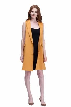 Scvbh Waistcoat Women No Button Black Jacket Women Sleeveless Blazer Jacket White Casual Outwear wine red S