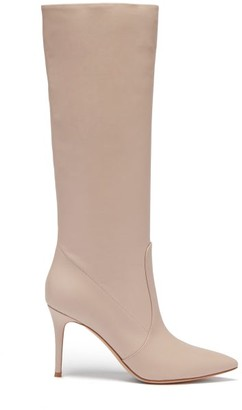 Gianvito Rossi Hansen 85 Leather Knee-high Boots - Nude