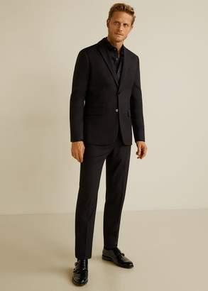 MANGO Slim-fit Tailored stretch cotton shirt
