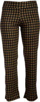 Glam Green & Black Houndstooth Straight-Leg Pants - Plus
