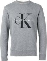 Calvin Klein Jeans logo print jumper - men - Cotton - L