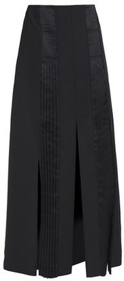 Cédric Charlier Pleated Satin-crepe Midi Skirt