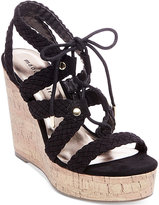 Madden-Girl Emboss-c Platform Wedge Sandals Women's Shoes