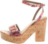 Stella McCartney Embossed Ankle Strap Sandals