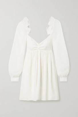 Vanessa Cocchiaro Charlotte Ruffled Crepe And Metallic Crepon Mini Dress - White