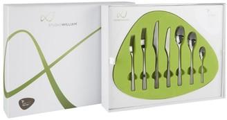 Studio William Tilia Obsidian 56-Piece Cutlery Set