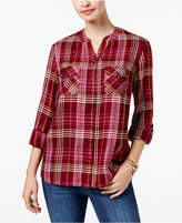 Style&Co. Style & Co Style & Co Petite Plaid Shirt, Created for Macy's
