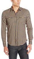HUGO BOSS BOSS Orange Men's Long Sleeve Flannel Button Down Shirt